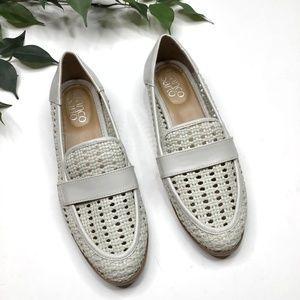 Franco Sarto Halton 2 Woven Faux Leather Loafers